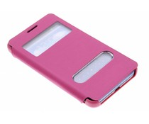 Slim booktype met venster Samsung Galaxy S2 (Plus)