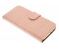 Roze slangen booktype hoes HTC One M9