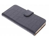 Zwart krokodil booktype hoes HTC One M9