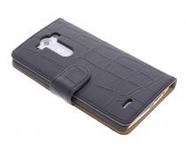 Zwart krokodil booktype hoes LG G3