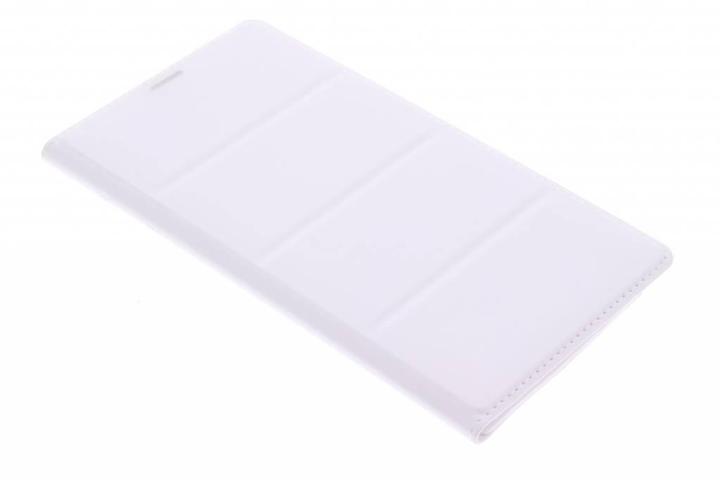 Witte premium flip wallet voor de Samsung Galaxy Note 4
