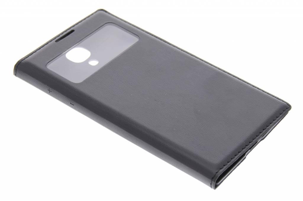 Zwarte flipcover met venster voor de Samsung Galaxy S4