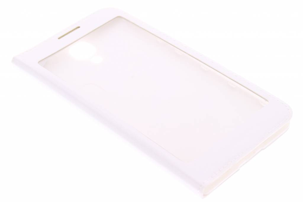 Witte flipcover met venster voor de Samsung Galaxy S4