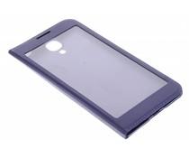 Paars flipcover met venster Samsung Galaxy S4