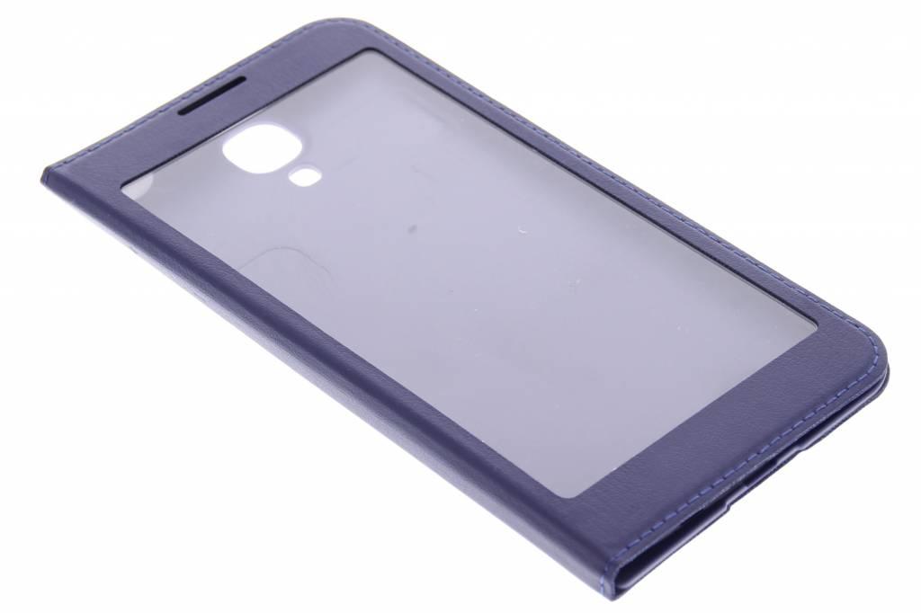 Paarse flipcover met venster voor de Samsung Galaxy S4