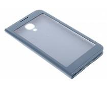 Staalblauw flipcover met venster Samsung Galaxy S4
