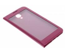 Fuchsia flipcover met venster Samsung Galaxy S4