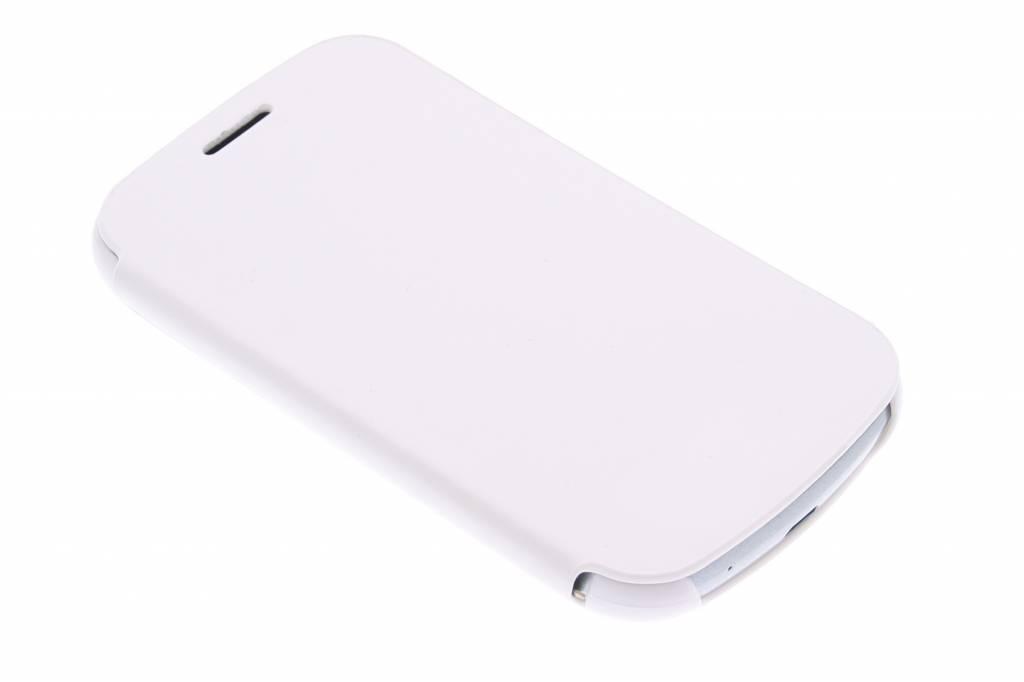 Witte slim booktype hoes voor de Samsung Galaxy Trend Lite