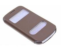 Slim booktype met venster Samsung Galaxy Trend Lite
