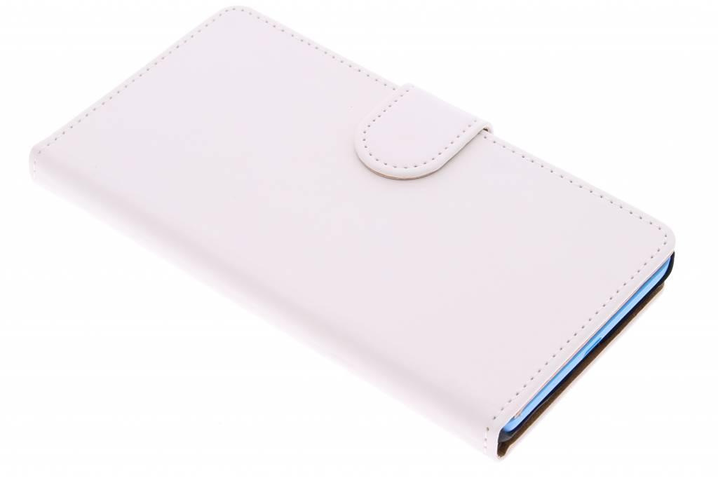 Witte effen booktype hoes voor de Microsoft Lumia 535