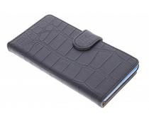 Zwart krokodil booktype hoes Microsoft Lumia 535