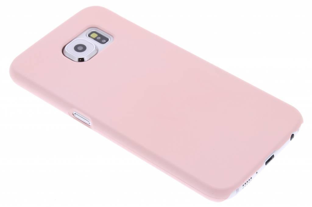 Poederroze pastel hardcase hoesje voor de Samsung Galaxy S6
