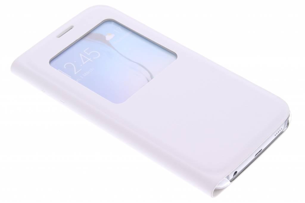 Witte slim booktype hoes met venster voor de Samsung Galaxy S6