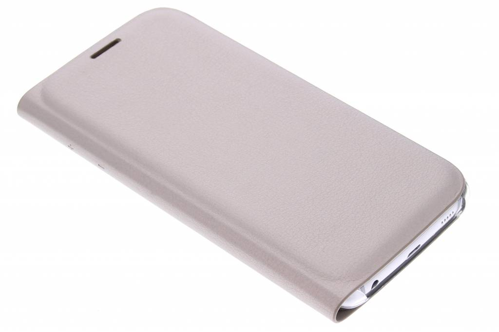 Metallic goude slim booktype hoes voor de Samsung Galaxy S6