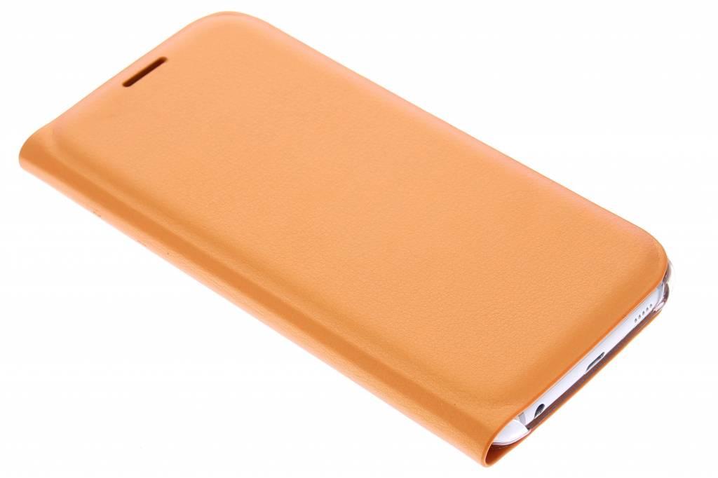 Metallic oranje slim booktype hoes voor de Samsung Galaxy S6