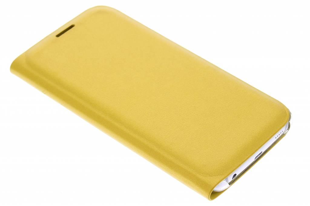 Metallic gele slim booktype hoes voor de Samsung Galaxy S6