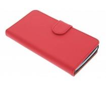 Rood effen booktype hoes LG L Bello / L80 Plus