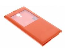 Oranje flipcover met venster Samsung Galaxy Note 3 Neo
