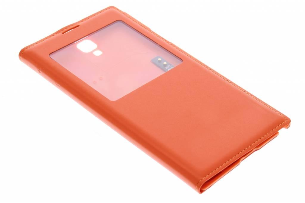 Oranje flipcover met venster voor de Samsung Galaxy Note 3 Neo