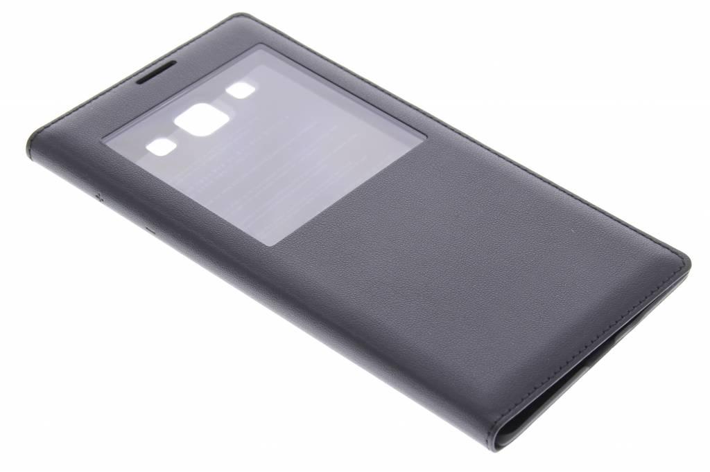 Zwarte flipcover met venster voor de Samsung Galaxy A7