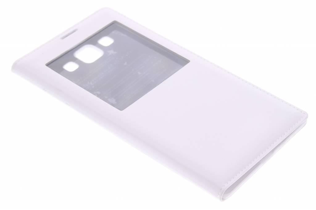 Witte flipcover met venster voor de Samsung Galaxy A7