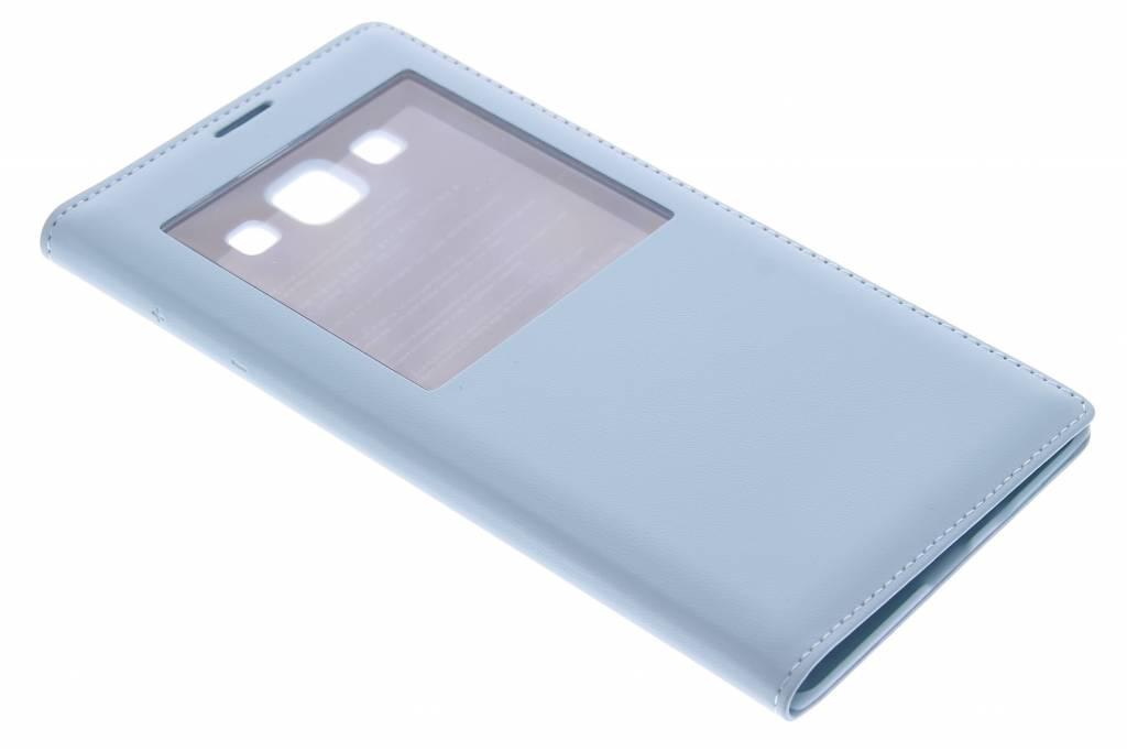 Staalblauwe flipcover met venster voor de Samsung Galaxy A7