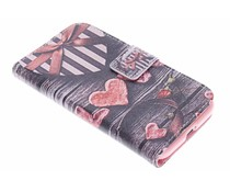 Design TPU booktype hoes Samsung Galaxy Core Prime