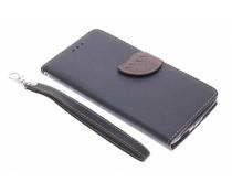 Zwart blad design TPU booktype hoes OnePlus One