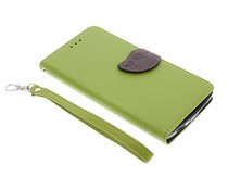 Groen blad design TPU booktype hoes OnePlus One