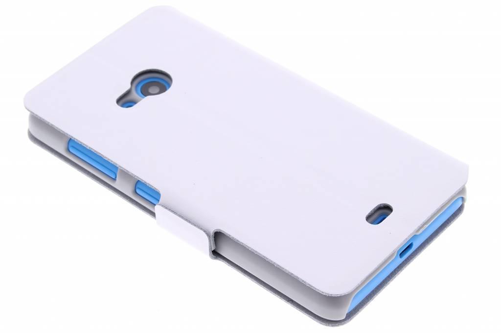 Witte luxe booktype hoes voor de Microsoft Lumia 535