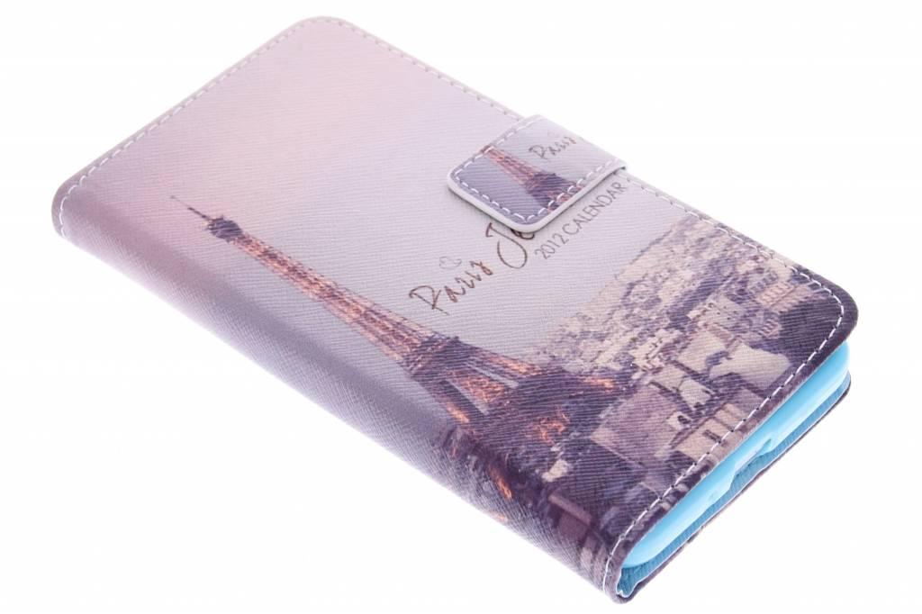 Parijs design TPU booktype hoes voor de Samsung Galaxy Grand Prime