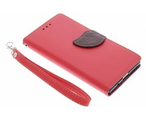 Blad design TPU booktype hoes Huawei Ascend P7