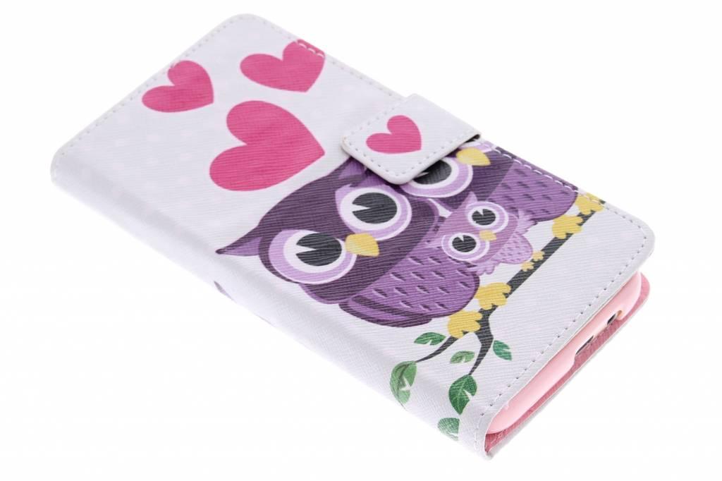 Uiltjes design TPU booktype hoes voor de HTC One M9