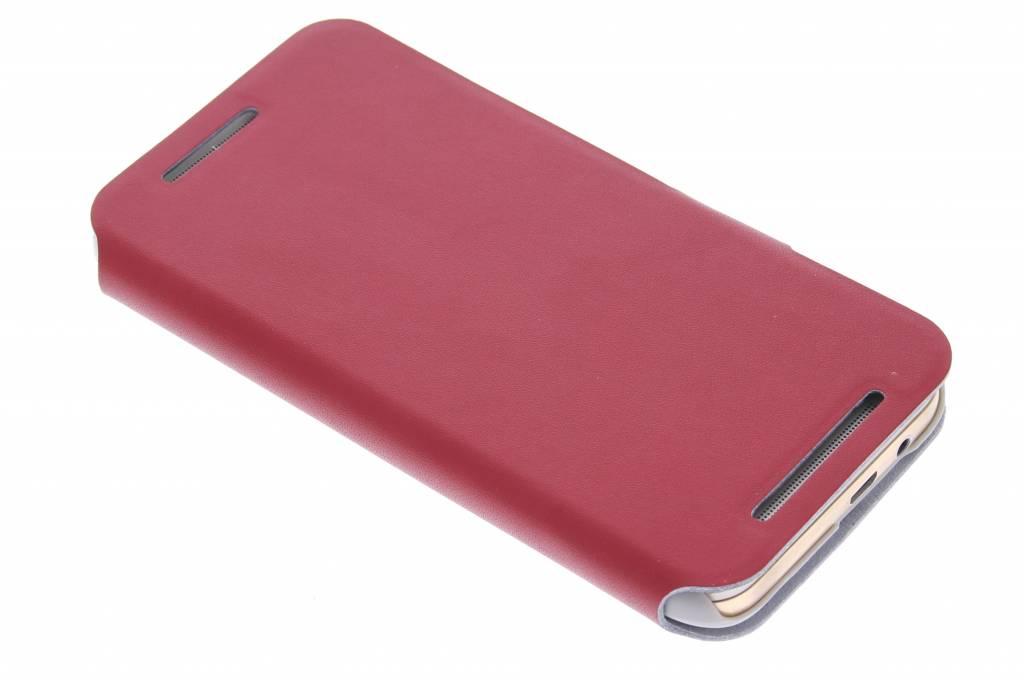 Rode stijlvolle booktype hoes voor de HTC One M9