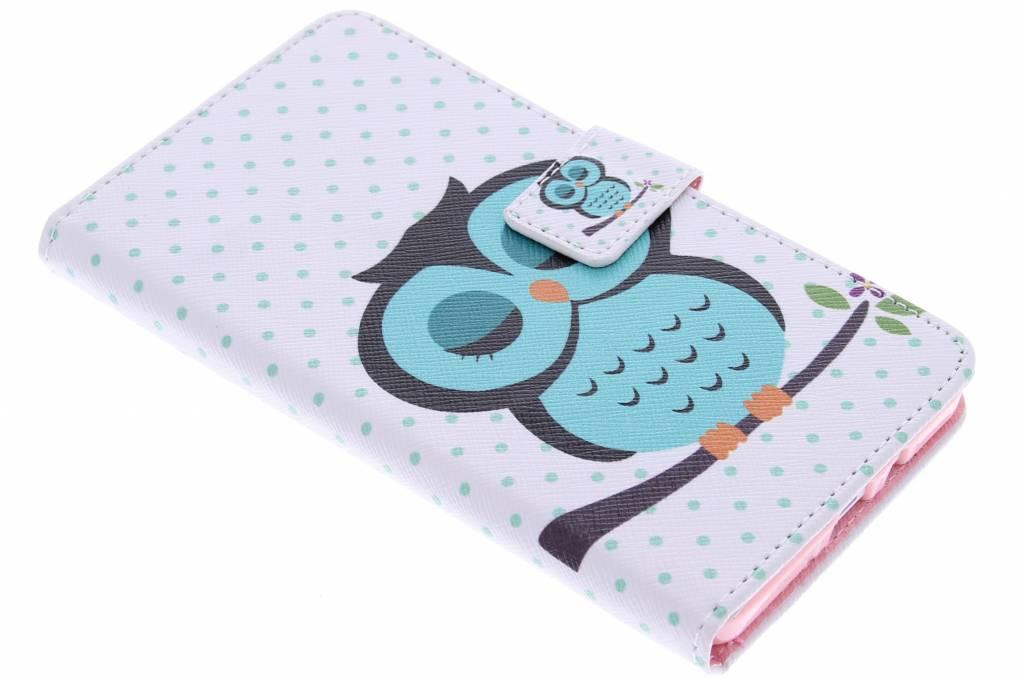Uil design TPU booktype hoes voor de Samsung Galaxy A7