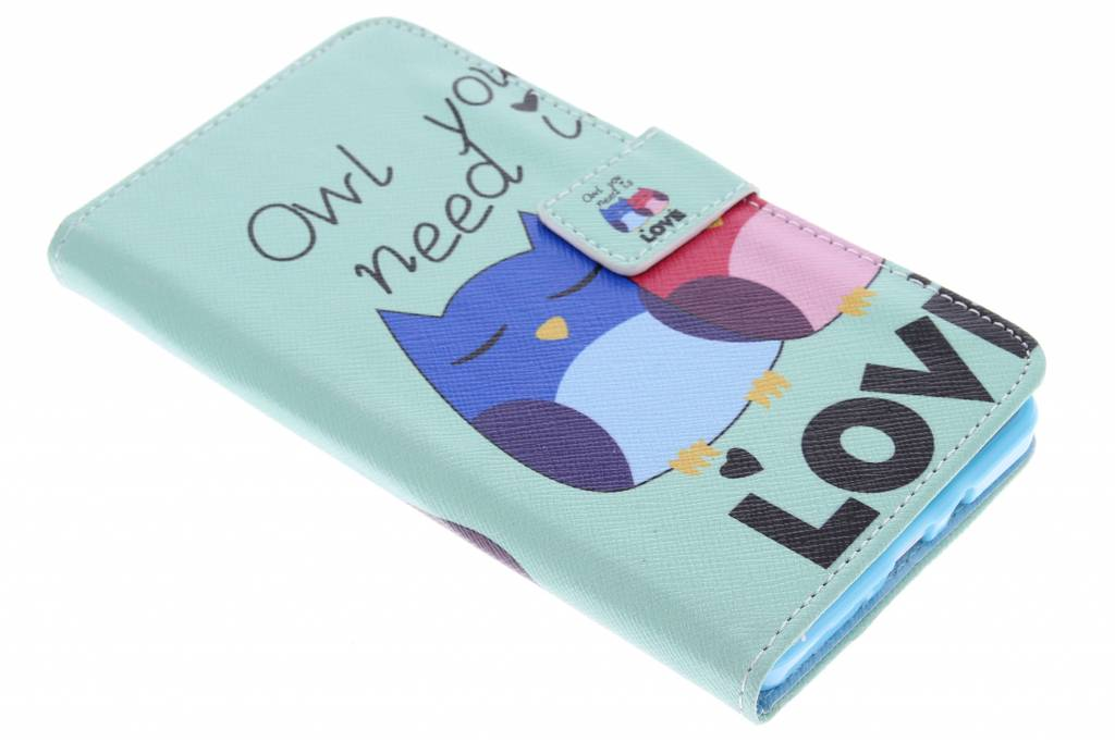 Owl you need is Love design TPU booktype hoes voor de Samsung Galaxy A7