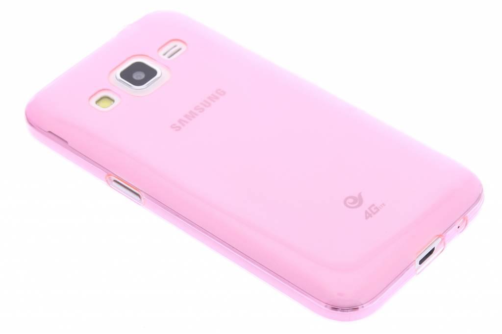 Roze ultra thin transparant TPU hoesje voor de Samsung Galaxy Core Prime