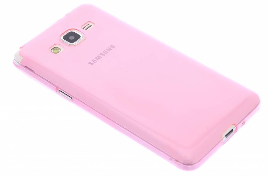 Roze ultra thin transparant TPU hoesje voor de Samsung Galaxy Grand Prime