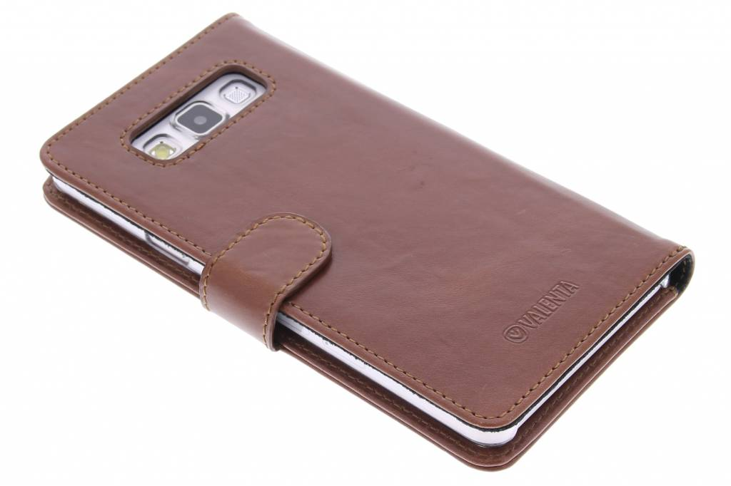 Valenta Bruine Booklet Classic Luxe voor de Samsung Galaxy A7
