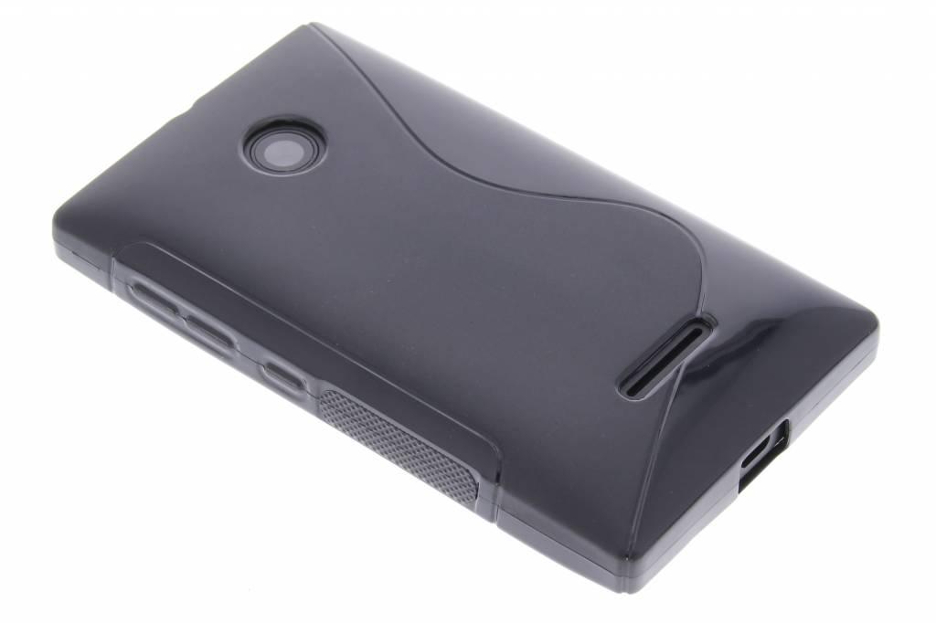 Zwart S-line TPU hoesje voor de Microsoft Lumia 435 / 532