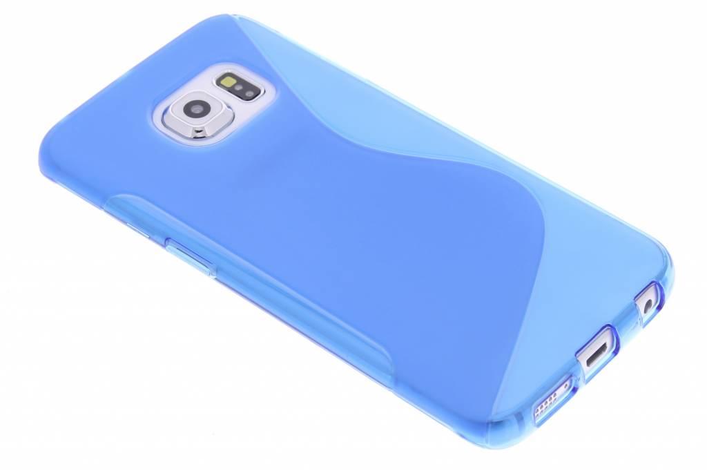 Blauw S-line TPU hoesje voor de Samsung Galaxy S6 Edge