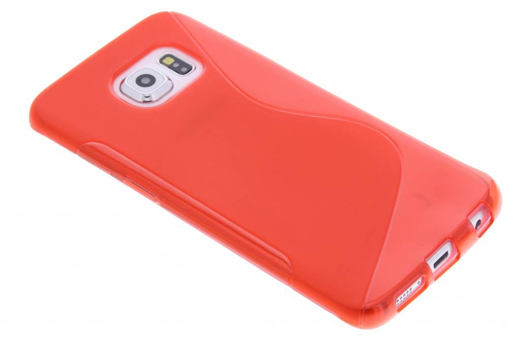 Rood S-line TPU hoesje voor de Samsung Galaxy S6 Edge
