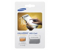 Samsung 16GB EVO microSD geheugenkaart + SD adapter