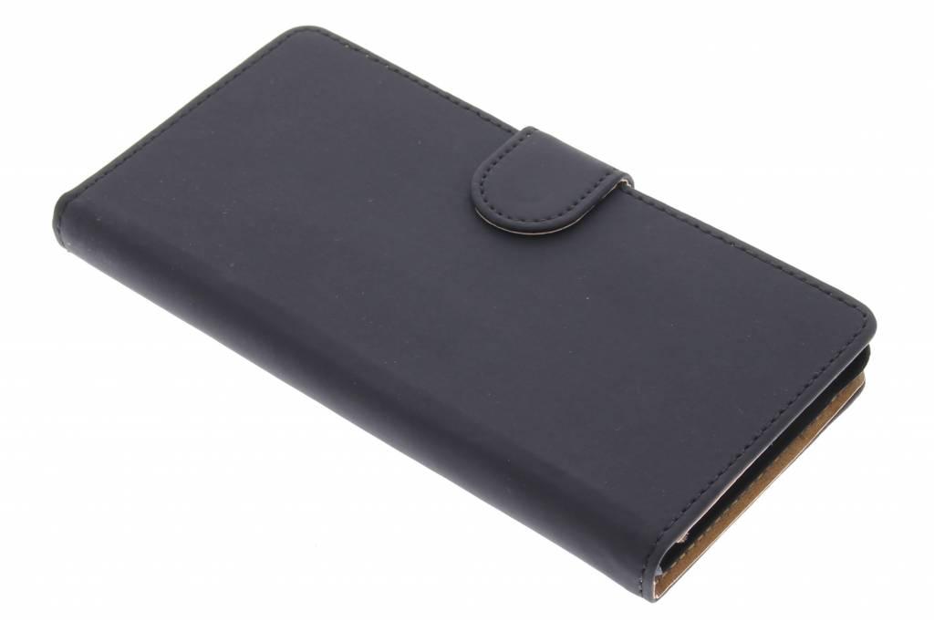 Zwarte effen bookype hoes voor de Sony Xperia M4 Aqua