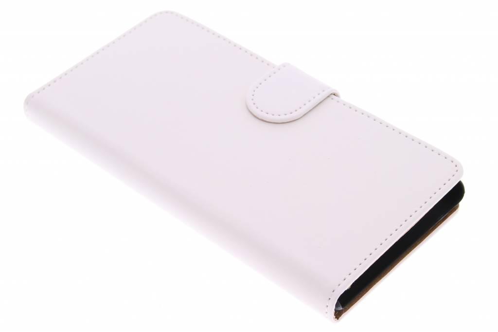 Witte effen bookype hoes voor de Sony Xperia M4 Aqua