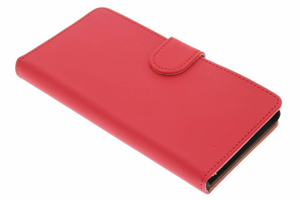 Rood effen bookype hoes voor de Sony Xperia M4 Aqua