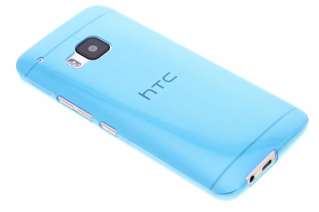 Blauw ultra thin transparant TPU hoesje voor de HTC One M9