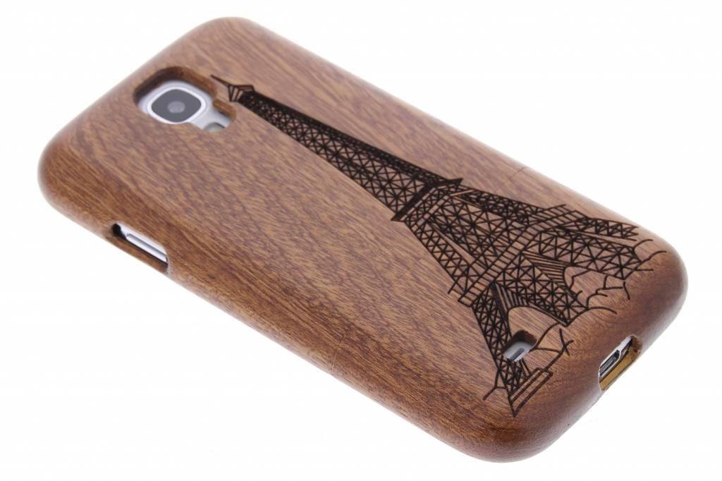 Echt houten hardcase met print voor de Samsung Galaxy S4