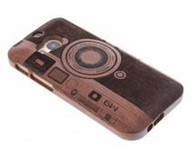 Houten hardcase hoesje met print HTC One M8 / M8s