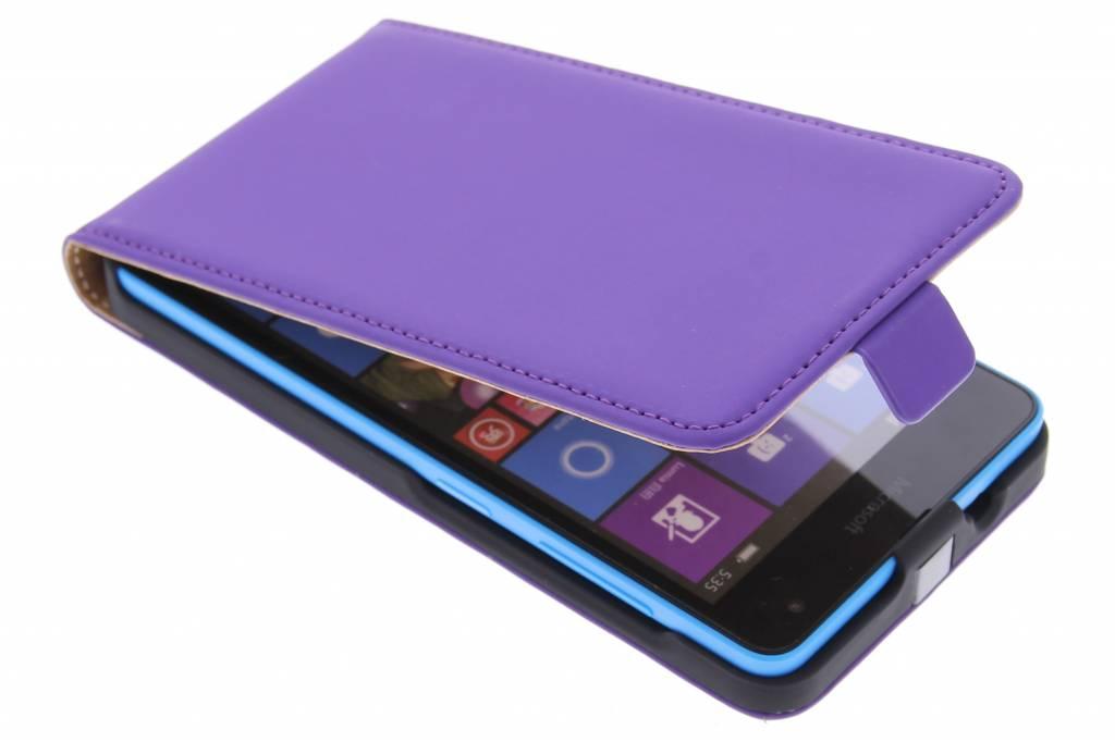 Mobiparts Premium Flipcase voor de Microsoft Lumia 535 - paars